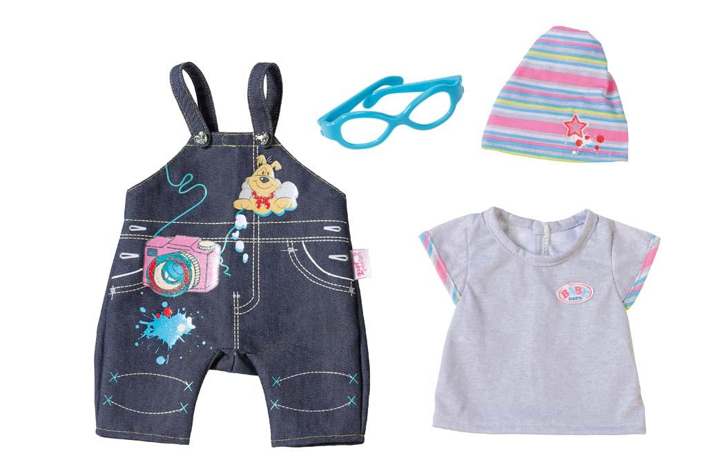 Baby Born Комплект джинсовой одежды для куклы 822-210 baby born ботиночки для кукол цвет голубой белый оранжевый 2 пары