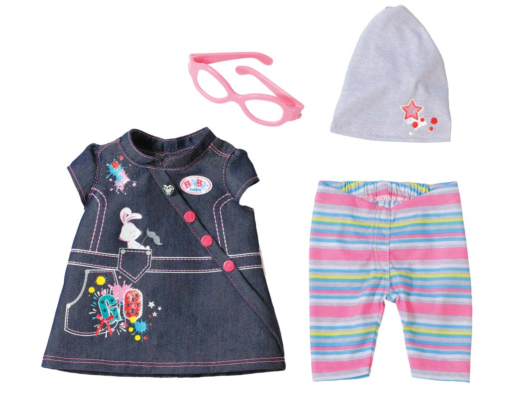 Baby Born Комплект джинсовой одежды для куклы комплекты детской одежды hudson baby подарочный набор одежды роза 6 предметов