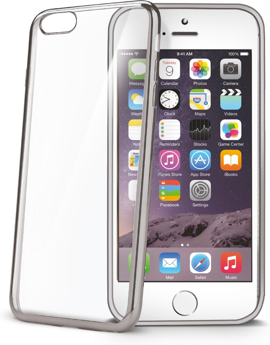 Celly Laser чехол для Apple iPhone 6/6s, Silver Clear цена и фото