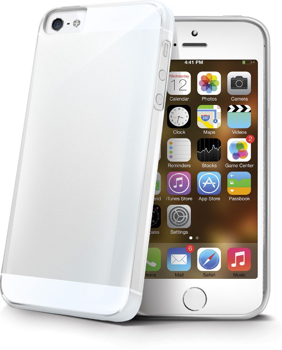 Celly Gelskin чехол для Apple iPhone 5/5s/SE, Clear