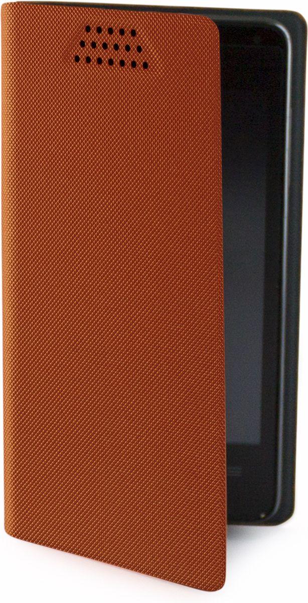Muvit универсальный чехол для смартфонов 5, OrangeMUCUN0282Универсальный чехол-книжка Muvit предназначен для защиты корпуса и экрана смартфона диагональю 5 от механических повреждений и царапин в процессе эксплуатации. Имеется свободный доступ ко всем разъемам и кнопкам устройства. Надежная фиксирующая смартфон внутренняя поверхность. Подходит для смартфонов с любым расположением камеры. Имеет специальный карман для пластиковых карт. На внутренней стороне чехла есть специальная площадка, которая позволяет вращать ваш телефон на 360°