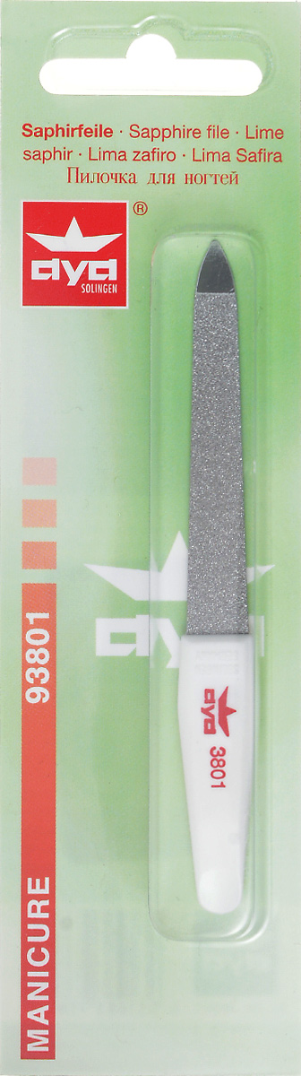 Becker-Manicure AYA Пилочка для ногтей 10см. 9380193801Пилочка двусторонняя, с одной стороны сапфировое напыление более крупное для придания ногтю формы, с другой более мелкое для завершения шлифовки ногтя.Длина пилочки 10 см Хранить в сухом недоступном для детей месте.Срок годности не ограничен. Замена изделия не осуществляется в следующих случаях: - Использование не по назначению - Самостоятельный ремонт - Нарушение условий храненияКак ухаживать за ногтями: советы эксперта. Статья OZON Гид
