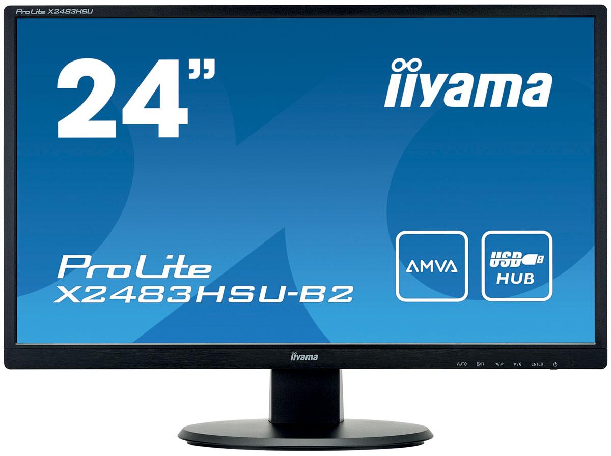 iiyama X2483HSU-B2, Black мониторX2483HSU-B2IiyamaX2483HSU-B2 - высококачественный 24-дюймовый Full HD-дисплей, оснащенный светодиодной подсветкой и панелью AMVA, гарантирующей точное и последовательное воспроизведение цвета с широкими углами обзора. Уровень динамического контраста этой модели превышает 12 000 000:1, а время отклика пикселей составляет 4 мс, что позволяет монитору демонстрировать отличное качество изображения. Монитор имеет сертификаты TCO и Energy Star. Модель идеально подойдет для образовательных, государственных, бизнес-структур и финансовых организаций.Технология AMVA превосходит стандартную TN технологию по таким параметрам как: уровень контрастности, глубина черного цвета и угол обзора. Качество изображения на экране практически не зависит от угла обзора.Нет мерцания + подавление синего - отличное решение для комфорта и здоровья ваших глаз. Немерцающие мониторы с функцией подавления синего цвета. И уровень синего цвета, воспроизводимого экраном и влияющего на усталость ваших глаз, значительно снижен.Изображение на экране монитора может становиться размытым при показе очень динамичного изображения. Технология Overdrive позволяет избежать этого.Контрастность - это отношение яркостей самой светлой и самой тёмной частей изображения на экране ЖК-монитора. Технология Advanced Contrast Ratio (продвинутая контрастность) автоматически регулирует контрастность и яркость, основываясь на характеристиках картинки. Чем выше контрастность, тем лучше будет смотреться картинка в темной комнате.