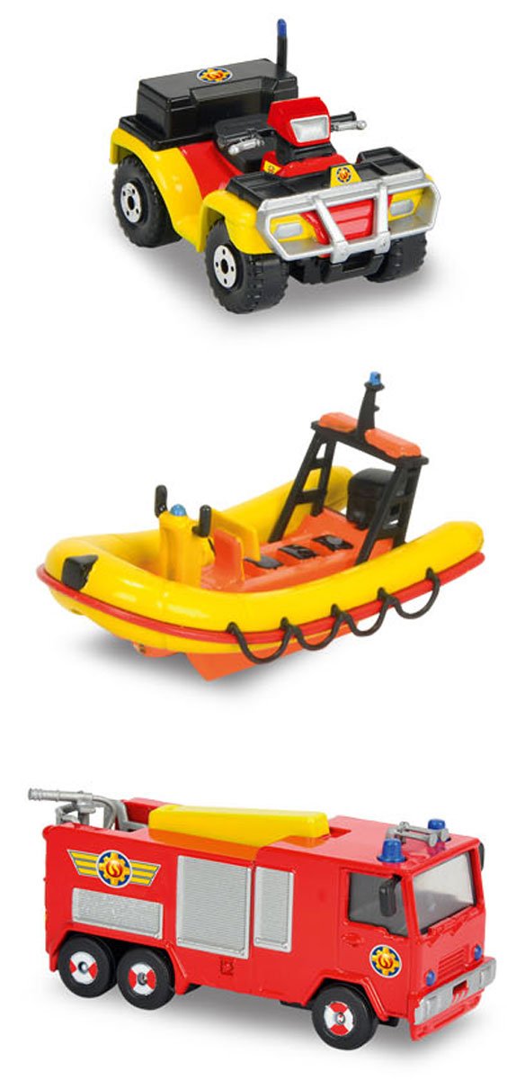 Dickie Toys Набор пожарной техники 3 шт игрушки для ванны tolo toys набор ведерок квадратные