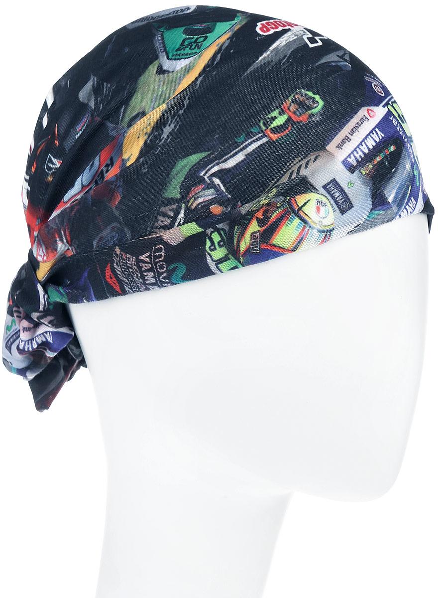 Бандана Buff Original Riders, цвет: черный, мультиколор. 110912.00. Размер универсальный110912.00Многофункциональная бандана Buff Original Riders, выполнена из мягкой микрофибры, защищает от ветра, пыли, влаги и ультрафиолета. Материал изделия контролирует микроклимат в холодную и теплую погоду, отводит влагу. Ткань обработана ионами серебра, обеспечивающими длительный антибактериальный эффект и предотвращающими появление запаха. Материал не теряет цвет и эластичность, не требует глажки. Бесшовная бандана-труба оформлена оригинальным принтом в виде изображения гонки на мотоциклах и дополнена фирменным логотипом. Модель можно носить на шее и на голове, как шейный платок, маску, бандану, шапку и подшлемник. Изделие очень эластично и принимает практически любую форму. Свойства материала позволяют использовать бандану в любое время года, при занятиях любым видом спорта, активного отдыха, туризма или рыбалки.