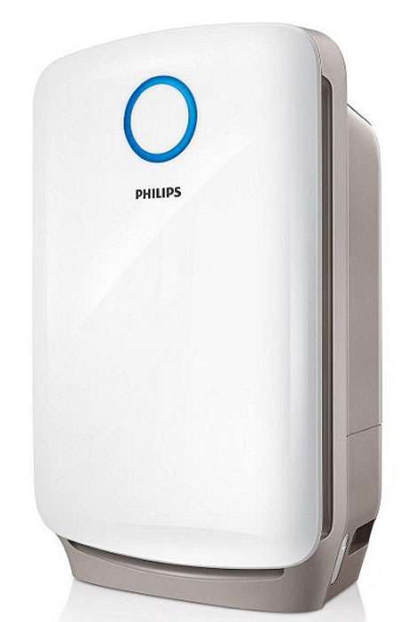 Philips AC4080/10 климатический комплексAC4080/10Профессиональная 3-уровневая система фильтрации и увлажняющий фильтр: 1. Фильтр предварительной очистки: улавливает крупные загрязняющие частицы, такие как волосы, шерсть животных, пух, пыль.2. Комбинированный HEPA- и угольный фильтр, созданный на основе немецкой технологии, улавливает мельчайшие загрязняющие частицы и нейтрализует неприятные запахи и вредные газы, такие как формальдегид3. Увлажняющий фильтр. Увлажнение происходит по технологии холодного испарения NanoCloud.4 режима работы:Включая автоматический и ночной. Во время работы прибора в автоматическом режиме гигрометр и датчик качества воздуха постоянно контролируют влажность и чистоту воздуха и включают/отключают прибор/ меняют режим работы по необходимости, обеспечивая постоянное поддержание чистоты и влажности на нужном уровне. При включенном ночном режиме прибор продолжает работать при погасших индикаторах и на пониженной мощности.Точные настройки уровня влажности:Для достижения максимального комфорта на климатическом комплексе Philips можно установить одну из трех степеней влажности — 40, 50 или 60 %.Индикаторы влажности воздуха:Встроенный гигрометр измеряет влажность воздуха в помещении, а специальные индикаторы на панеле управления отражают эти измерения.Цветовой индикатор качества воздуха:3-ступенчатая световая индикация четко отражает качество воздуха в помещении: синий — очень хорошее; фиолетовый — удовлетворительное; красный — очень плохое.Индикатор замены фильтров:Специальный индикатор на приборе загорается, когда нужно заменить какой-либо из фильтров, указывая, какой именно. Простой и удобный таймер на 1/4/8 часов:Устройство работает в течение заданного промежутка времени и затем автоматически отключается.