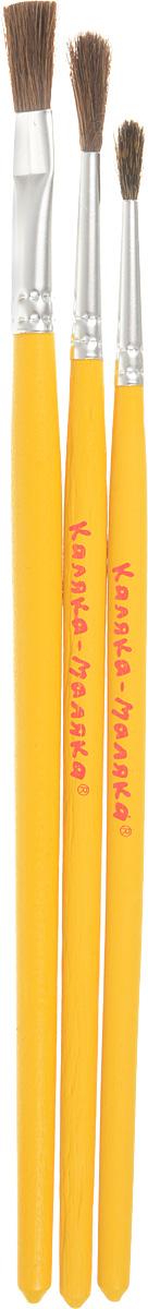 Грааль Набор кистей из волоса белки и пони №2, 3, 5 (3шт)КХБ 2/3/5Набор кистей Грааль идеально подойдут для детского творчества,художественных и декоративно-оформительских работ. Кисти из натурального ворса белки и пони разныхразмеровпредназначены для работы с акварелью, гуашью, тушью. Конусообразная формапучка позволяет прорисовывать мелкие детали и выполнять заливку фона. В набор входят кисти номер 2, 3 и 5. Деревянные ручки оснащеныалюминиевыми втулками с двойной обжимкой.