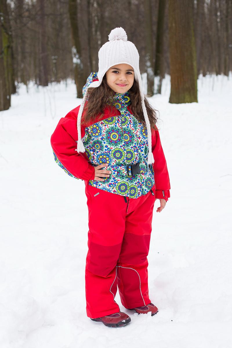 Комбинезон для девочки Sweet Berry, цвет: красный, белый, голубой, желтый. 205553. Размер 128 блузка для девочки sweet berry цвет красный белый 205420 размер 128