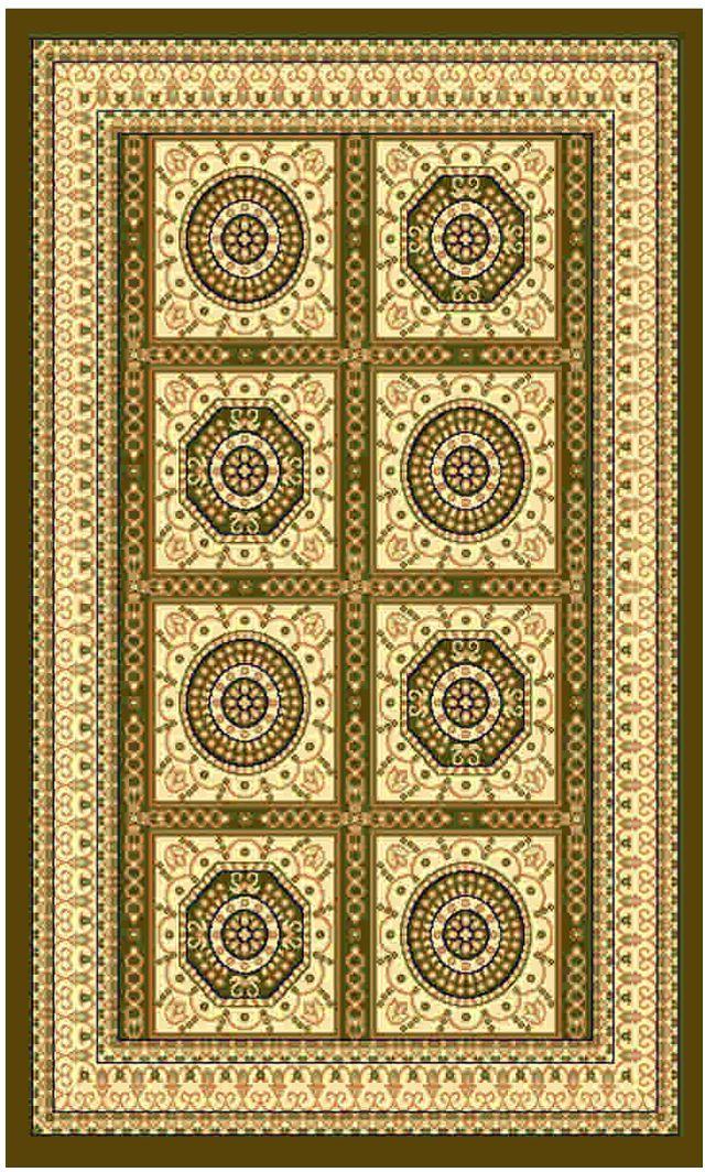 Ковер Kamalak tekstil, прямоугольный, цвет: зеленый, 50 x 100 см. УК-0438УК-0438Ковры-паласы выполнены из полипропилена. Ковры обладают хорошими показателями теплостойкости и шумоизоляции. Являются гиппоалергенными. За счет невысокого ворса ковры легко чистить. Вам придется по душе широкая гамма цветов и возможность гармонично оформить интерьер. Практичный и устойчивый к износу ворс - от постоянного хождения не истирается, не накапливает статическое электричество. Структура волокна в полипропиленовых моделях гладкая, поэтому грязь не может выесться, на ворсе она скапливается с трудом. Полипропилен не впитывает влагу, отталкивает водянистые пятна. Уход: Самый простой способ избавить изделие от грязи – пропылесосить его с обеих сторон (лицевой и изнаночной).Влажная уборка с применением шампуней и моющих средств не противопоказана. Если шерсти и шёлку универсальные чистящие составы не подходят, то для синтетики они придутся в самый раз.Хранить их нужно рулоном, не складывая «салфеткой».При надлежащем уходе синтетический ковёр прослужит долго, не утратив ни яркости узора, ни блеска ворса, ни его упругости.