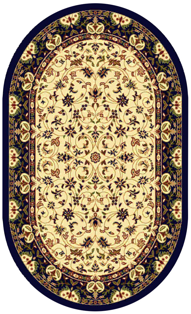 Ковер Kamalak tekstil, овальный, цвет: кремовый, 80 x 150 см. УК-0140УК-0140Ковры-паласы выполнены из полипропилена. Ковры обладают хорошими показателями теплостойкости и шумоизоляции. Являются гиппоалергенными. За счет невысокого ворса ковры легко чистить. Вам придется по душе широкая гамма цветов и возможность гармонично оформить интерьер. Практичный и устойчивый к износу ворс - от постоянного хождения не истирается, не накапливает статическое электричество. Структура волокна в полипропиленовых моделях гладкая, поэтому грязь не может выесться, на ворсе она скапливается с трудом. Полипропилен не впитывает влагу, отталкивает водянистые пятна. Уход: Самый простой способ избавить изделие от грязи – пропылесосить его с обеих сторон (лицевой и изнаночной).Влажная уборка с применением шампуней и моющих средств не противопоказана. Если шерсти и шёлку универсальные чистящие составы не подходят, то для синтетики они придутся в самый раз.Хранить их нужно рулоном, не складывая «салфеткой».При надлежащем уходе синтетический ковёр прослужит долго, не утратив ни яркости узора, ни блеска ворса, ни его упругости.