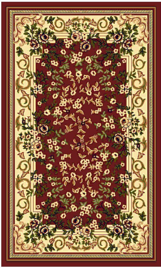 Ковер Kamalak tekstil, прямоугольный, цвет: кремовый, 60 x 110 см. УК-0135УК-0135Ковры-паласы выполнены из полипропилена. Ковры обладают хорошими показателями теплостойкости и шумоизоляции. Являются гиппоалергенными. За счет невысокого ворса ковры легко чистить. Вам придется по душе широкая гамма цветов и возможность гармонично оформить интерьер. Практичный и устойчивый к износу ворс - от постоянного хождения не истирается, не накапливает статическое электричество. Структура волокна в полипропиленовых моделях гладкая, поэтому грязь не может выесться, на ворсе она скапливается с трудом. Полипропилен не впитывает влагу, отталкивает водянистые пятна. Уход: Самый простой способ избавить изделие от грязи – пропылесосить его с обеих сторон (лицевой и изнаночной).Влажная уборка с применением шампуней и моющих средств не противопоказана. Если шерсти и шёлку универсальные чистящие составы не подходят, то для синтетики они придутся в самый раз.Хранить их нужно рулоном, не складывая «салфеткой».При надлежащем уходе синтетический ковёр прослужит долго, не утратив ни яркости узора, ни блеска ворса, ни его упругости.