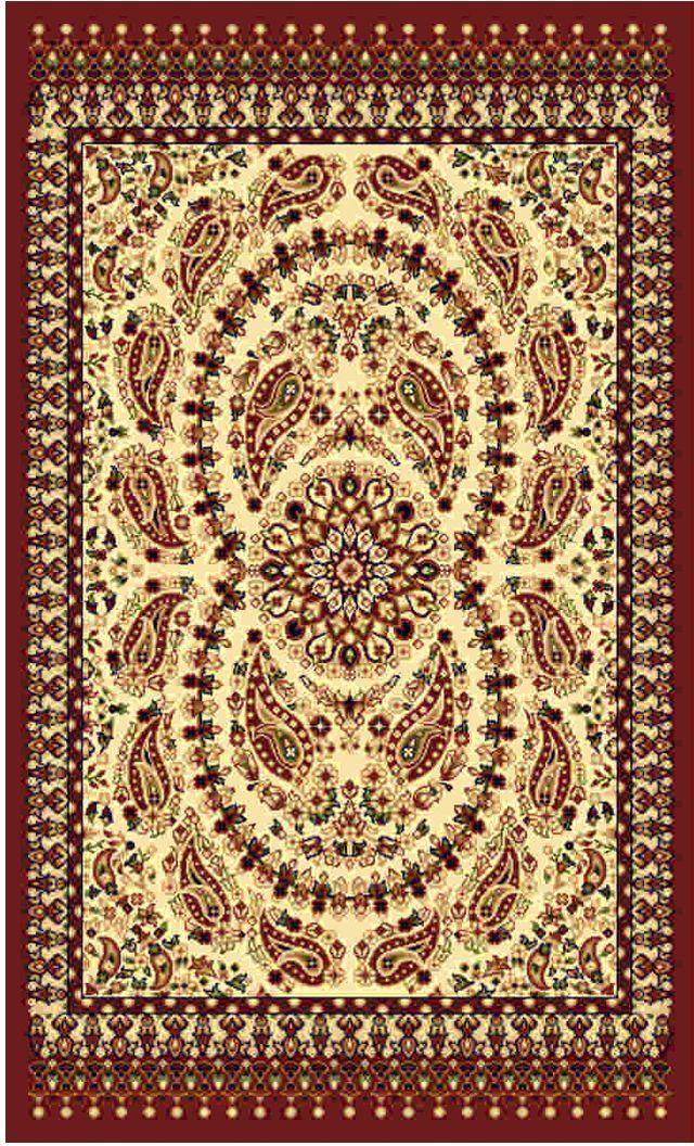 Ковер Kamalak tekstil, прямоугольный, цвет: кремовый, 100 x 150 см. УК-0185УК-0185Ковры-паласы выполнены из полипропилена. Ковры обладают хорошими показателями теплостойкости и шумоизоляции. Являются гиппоалергенными. За счет невысокого ворса ковры легко чистить. Вам придется по душе широкая гамма цветов и возможность гармонично оформить интерьер. Практичный и устойчивый к износу ворс - от постоянного хождения не истирается, не накапливает статическое электричество. Структура волокна в полипропиленовых моделях гладкая, поэтому грязь не может выесться, на ворсе она скапливается с трудом. Полипропилен не впитывает влагу, отталкивает водянистые пятна. Уход: Самый простой способ избавить изделие от грязи – пропылесосить его с обеих сторон (лицевой и изнаночной). Влажная уборка с применением шампуней и моющих средств не противопоказана. Если шерсти и шёлку универсальные чистящие составы не подходят, то для синтетики они придутся в самый раз. Хранить их нужно рулоном, не складывая «салфеткой». При надлежащем уходе синтетический ковёр прослужит долго, не утратив ни яркости узора, ни блеска ворса, ни его упругости.