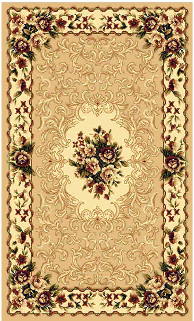 Ковер Kamalak tekstil, прямоугольный, цвет: кремовый, 50 x 100 см. УК-0432УК-0432Ковры-паласы выполнены из полипропилена. Ковры обладают хорошими показателями теплостойкости и шумоизоляции. Являются гиппоалергенными. За счет невысокого ворса ковры легко чистить. Вам придется по душе широкая гамма цветов и возможность гармонично оформить интерьер. Практичный и устойчивый к износу ворс - от постоянного хождения не истирается, не накапливает статическое электричество. Структура волокна в полипропиленовых моделях гладкая, поэтому грязь не может выесться, на ворсе она скапливается с трудом. Полипропилен не впитывает влагу, отталкивает водянистые пятна. Уход: Самый простой способ избавить изделие от грязи – пропылесосить его с обеих сторон (лицевой и изнаночной). Влажная уборка с применением шампуней и моющих средств не противопоказана. Если шерсти и шёлку универсальные чистящие составы не подходят, то для синтетики они придутся в самый раз. Хранить их нужно рулоном, не складывая «салфеткой». При надлежащем уходе синтетический ковёр прослужит долго, не утратив ни яркости узора, ни блеска ворса, ни его упругости.