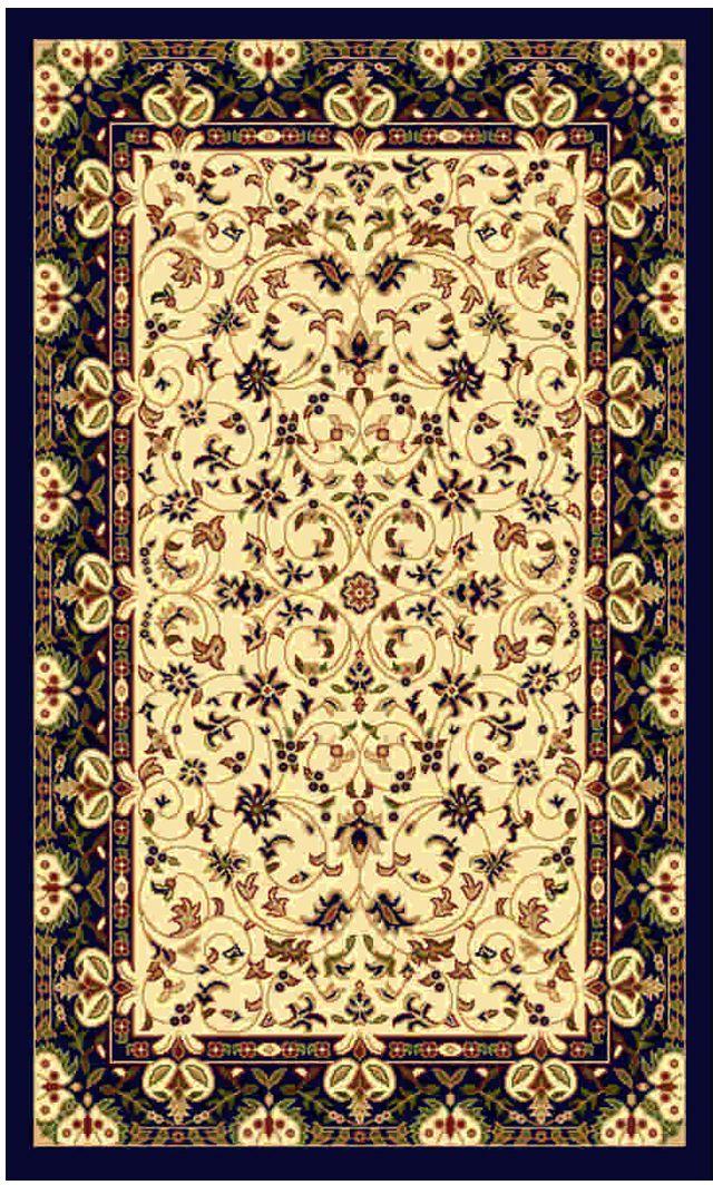 Ковер Kamalak tekstil, прямоугольный, цвет: кремовый, 50 x 100 см. УК-0465УК-0465Ковры-паласы выполнены из полипропилена. Ковры обладают хорошими показателями теплостойкости и шумоизоляции. Являются гиппоалергенными. За счет невысокого ворса ковры легко чистить. Вам придется по душе широкая гамма цветов и возможность гармонично оформить интерьер. Практичный и устойчивый к износу ворс - от постоянного хождения не истирается, не накапливает статическое электричество. Структура волокна в полипропиленовых моделях гладкая, поэтому грязь не может выесться, на ворсе она скапливается с трудом. Полипропилен не впитывает влагу, отталкивает водянистые пятна. Уход: Самый простой способ избавить изделие от грязи – пропылесосить его с обеих сторон (лицевой и изнаночной). Влажная уборка с применением шампуней и моющих средств не противопоказана. Если шерсти и шёлку универсальные чистящие составы не подходят, то для синтетики они придутся в самый раз. Хранить их нужно рулоном, не складывая «салфеткой». При надлежащем уходе синтетический ковёр прослужит долго, не утратив ни яркости узора, ни блеска ворса, ни его упругости.