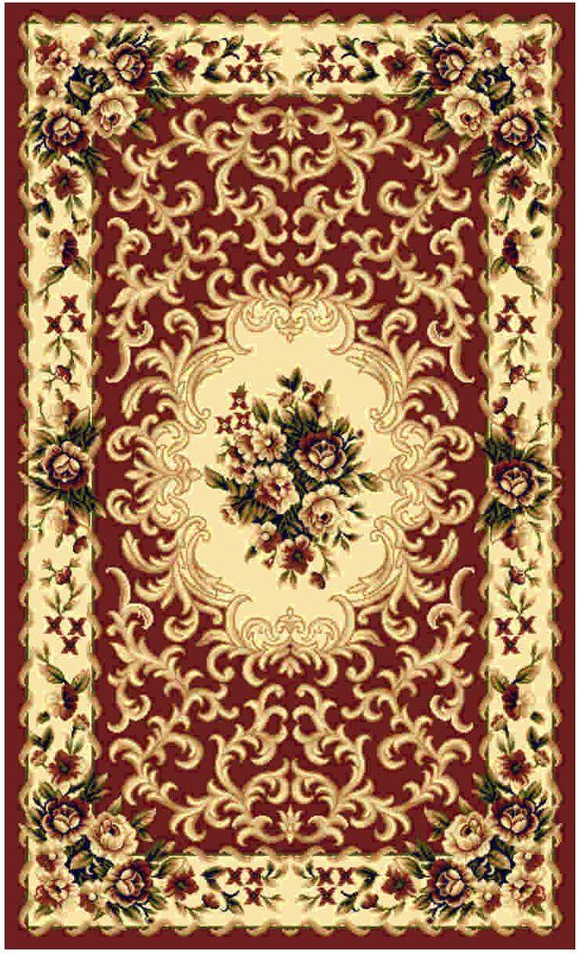 Ковер Kamalak Tekstil, прямоугольный, цвет: кремовый, бордовый, 100 x 150 см. УК-0004УК-0004Ковер-палас выполнен из полипропилена. Ковер обладает хорошими показателями теплостойкости и шумоизоляции. Является гиппоалергенным. За счет невысокого ворса ковер легко чистить. Вам придется по душе цветовая палитра и возможность гармонично оформить интерьер. Практичный и устойчивый к износу ворс - от постоянного хождения не истирается, не накапливает статическое электричество. Структура волокна в полипропиленовых моделях гладкая, поэтому грязь не может въесться, на ворсе она скапливается с трудом. Полипропилен не впитывает влагу, отталкивает водянистые пятна. Уход: самый простой способ избавить изделие от грязи - пропылесосить его с обеих сторон (лицевой и изнаночной). Влажная уборка с применением шампуней и моющих средств не противопоказана. Хранить ковер нужно рулоном, не складывая салфеткой.При надлежащем уходе синтетический ковёр прослужит долго, не утратив ни яркости узора, ни блеска ворса, ни его упругости.