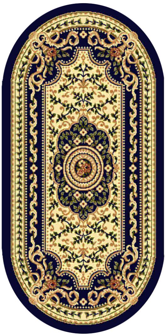 Ковер Kamalak tekstil, овальный, цвет: кремовый, 100 x 150 см. УК-0401УК-0401Ковры-паласы выполнены из полипропилена. Ковры обладают хорошими показателями теплостойкости и шумоизоляции. Являются гиппоалергенными. За счет невысокого ворса ковры легко чистить. Вам придется по душе широкая гамма цветов и возможность гармонично оформить интерьер. Практичный и устойчивый к износу ворс - от постоянного хождения не истирается, не накапливает статическое электричество. Структура волокна в полипропиленовых моделях гладкая, поэтому грязь не может выесться, на ворсе она скапливается с трудом. Полипропилен не впитывает влагу, отталкивает водянистые пятна. Уход: Самый простой способ избавить изделие от грязи – пропылесосить его с обеих сторон (лицевой и изнаночной).Влажная уборка с применением шампуней и моющих средств не противопоказана. Если шерсти и шёлку универсальные чистящие составы не подходят, то для синтетики они придутся в самый раз.Хранить их нужно рулоном, не складывая «салфеткой».При надлежащем уходе синтетический ковёр прослужит долго, не утратив ни яркости узора, ни блеска ворса, ни его упругости.