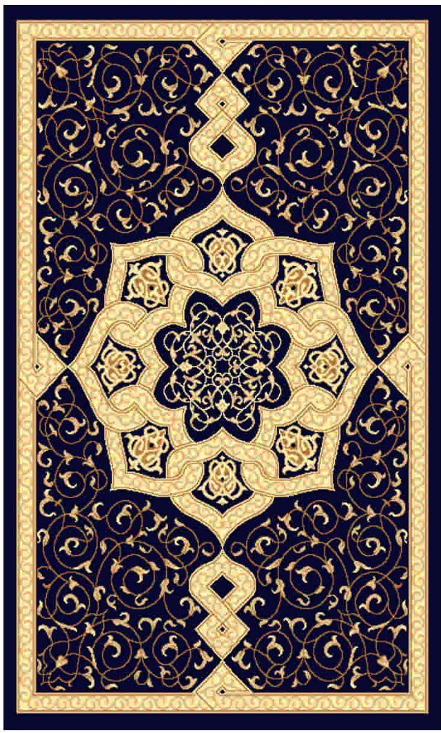 Ковер Kamalak tekstil, прямоугольный, цвет: синий, 50 x 100 см. УК-0454УК-0454Ковры-паласы выполнены из полипропилена. Ковры обладают хорошими показателями теплостойкости и шумоизоляции. Являются гиппоалергенными. За счет невысокого ворса ковры легко чистить. Вам придется по душе широкая гамма цветов и возможность гармонично оформить интерьер. Практичный и устойчивый к износу ворс - от постоянного хождения не истирается, не накапливает статическое электричество. Структура волокна в полипропиленовых моделях гладкая, поэтому грязь не может выесться, на ворсе она скапливается с трудом. Полипропилен не впитывает влагу, отталкивает водянистые пятна. Уход: Самый простой способ избавить изделие от грязи – пропылесосить его с обеих сторон (лицевой и изнаночной). Влажная уборка с применением шампуней и моющих средств не противопоказана. Если шерсти и шёлку универсальные чистящие составы не подходят, то для синтетики они придутся в самый раз. Хранить их нужно рулоном, не складывая «салфеткой». При надлежащем уходе синтетический ковёр прослужит долго, не утратив ни яркости узора, ни блеска ворса, ни его упругости.
