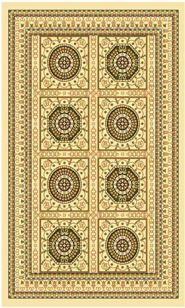 Ковер Kamalak tekstil, прямоугольный, цвет: кремовый, 80 x 150 см. УК-0027УК-0027Ковры-паласы выполнены из полипропилена. Ковры обладают хорошими показателями теплостойкости и шумоизоляции. Являются гиппоалергенными. За счет невысокого ворса ковры легко чистить. Вам придется по душе широкая гамма цветов и возможность гармонично оформить интерьер. Практичный и устойчивый к износу ворс - от постоянного хождения не истирается, не накапливает статическое электричество. Структура волокна в полипропиленовых моделях гладкая, поэтому грязь не может выесться, на ворсе она скапливается с трудом. Полипропилен не впитывает влагу, отталкивает водянистые пятна. Уход: Самый простой способ избавить изделие от грязи – пропылесосить его с обеих сторон (лицевой и изнаночной).Влажная уборка с применением шампуней и моющих средств не противопоказана. Если шерсти и шёлку универсальные чистящие составы не подходят, то для синтетики они придутся в самый раз.Хранить их нужно рулоном, не складывая «салфеткой».При надлежащем уходе синтетический ковёр прослужит долго, не утратив ни яркости узора, ни блеска ворса, ни его упругости.