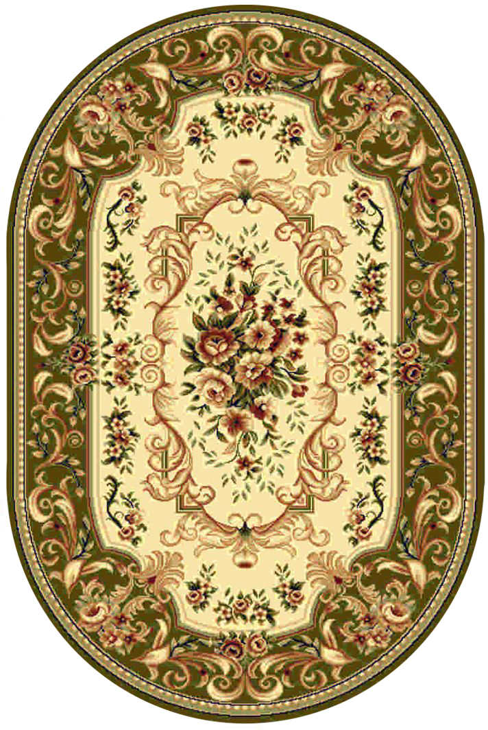 Ковер Kamalak tekstil, овальный, цвет: кремовый, 100 x 150 см. УК-0357УК-0357Ковры-паласы выполнены из полипропилена. Ковры обладают хорошими показателями теплостойкости и шумоизоляции. Являются гиппоалергенными. За счет невысокого ворса ковры легко чистить. Вам придется по душе широкая гамма цветов и возможность гармонично оформить интерьер. Практичный и устойчивый к износу ворс - от постоянного хождения не истирается, не накапливает статическое электричество. Структура волокна в полипропиленовых моделях гладкая, поэтому грязь не может выесться, на ворсе она скапливается с трудом. Полипропилен не впитывает влагу, отталкивает водянистые пятна. Уход: Самый простой способ избавить изделие от грязи – пропылесосить его с обеих сторон (лицевой и изнаночной).Влажная уборка с применением шампуней и моющих средств не противопоказана. Если шерсти и шёлку универсальные чистящие составы не подходят, то для синтетики они придутся в самый раз.Хранить их нужно рулоном, не складывая «салфеткой».При надлежащем уходе синтетический ковёр прослужит долго, не утратив ни яркости узора, ни блеска ворса, ни его упругости.