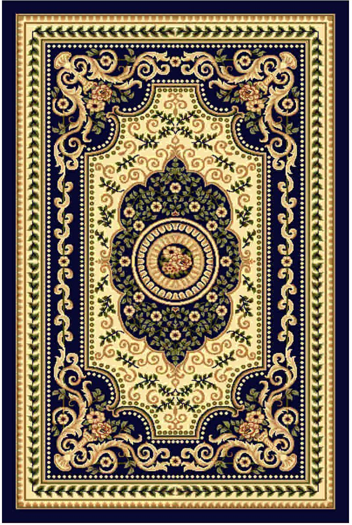 Ковер Kamalak tekstil, прямоугольный, цвет: кремовый, 50 x 100 см. УК-0515 ковер kamalak tekstil ук 0515