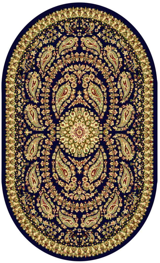 Ковер Kamalak tekstil, овальный, цвет: синий, 60 x 110 см. УК-0166УК-0166Ковры-паласы выполнены из полипропилена. Ковры обладают хорошими показателями теплостойкости и шумоизоляции. Являются гиппоалергенными. За счет невысокого ворса ковры легко чистить. Вам придется по душе широкая гамма цветов и возможность гармонично оформить интерьер. Практичный и устойчивый к износу ворс - от постоянного хождения не истирается, не накапливает статическое электричество. Структура волокна в полипропиленовых моделях гладкая, поэтому грязь не может выесться, на ворсе она скапливается с трудом. Полипропилен не впитывает влагу, отталкивает водянистые пятна. Уход: Самый простой способ избавить изделие от грязи – пропылесосить его с обеих сторон (лицевой и изнаночной).Влажная уборка с применением шампуней и моющих средств не противопоказана. Если шерсти и шёлку универсальные чистящие составы не подходят, то для синтетики они придутся в самый раз.Хранить их нужно рулоном, не складывая «салфеткой».При надлежащем уходе синтетический ковёр прослужит долго, не утратив ни яркости узора, ни блеска ворса, ни его упругости.