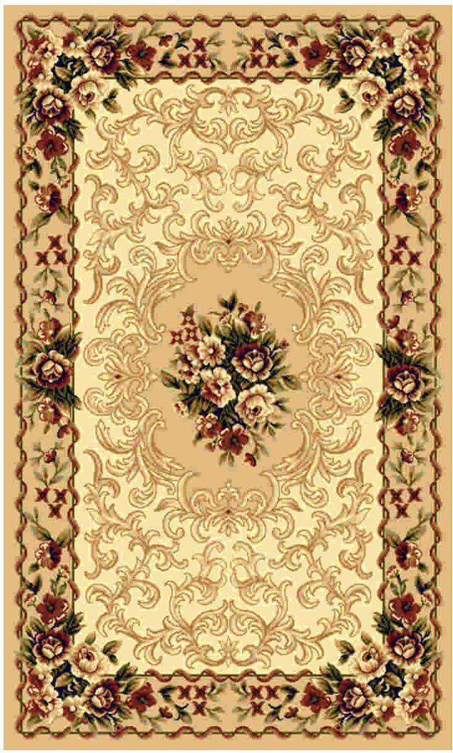 Ковер Kamalak tekstil, прямоугольный, цвет: бежевый, 60 x 110 см. УК-0003УК-0003Ковры-паласы выполнены из полипропилена. Ковры обладают хорошими показателями теплостойкости и шумоизоляции. Являются гиппоалергенными. За счет невысокого ворса ковры легко чистить. Вам придется по душе широкая гамма цветов и возможность гармонично оформить интерьер. Практичный и устойчивый к износу ворс - от постоянного хождения не истирается, не накапливает статическое электричество. Структура волокна в полипропиленовых моделях гладкая, поэтому грязь не может выесться, на ворсе она скапливается с трудом. Полипропилен не впитывает влагу, отталкивает водянистые пятна. Уход: Самый простой способ избавить изделие от грязи – пропылесосить его с обеих сторон (лицевой и изнаночной).Влажная уборка с применением шампуней и моющих средств не противопоказана. Если шерсти и шёлку универсальные чистящие составы не подходят, то для синтетики они придутся в самый раз.Хранить их нужно рулоном, не складывая «салфеткой».При надлежащем уходе синтетический ковёр прослужит долго, не утратив ни яркости узора, ни блеска ворса, ни его упругости.