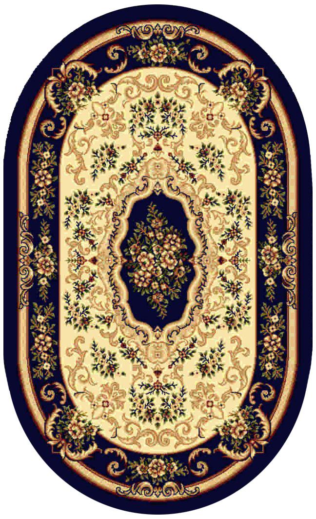 Ковер Kamalak tekstil, овальный, цвет: кремовый, 60 x 110 см. УК-0100УК-0100Ковры-паласы выполнены из полипропилена. Ковры обладают хорошими показателями теплостойкости и шумоизоляции. Являются гиппоалергенными. За счет невысокого ворса ковры легко чистить. Вам придется по душе широкая гамма цветов и возможность гармонично оформить интерьер. Практичный и устойчивый к износу ворс - от постоянного хождения не истирается, не накапливает статическое электричество. Структура волокна в полипропиленовых моделях гладкая, поэтому грязь не может выесться, на ворсе она скапливается с трудом. Полипропилен не впитывает влагу, отталкивает водянистые пятна. Уход: Самый простой способ избавить изделие от грязи – пропылесосить его с обеих сторон (лицевой и изнаночной).Влажная уборка с применением шампуней и моющих средств не противопоказана. Если шерсти и шёлку универсальные чистящие составы не подходят, то для синтетики они придутся в самый раз.Хранить их нужно рулоном, не складывая «салфеткой».При надлежащем уходе синтетический ковёр прослужит долго, не утратив ни яркости узора, ни блеска ворса, ни его упругости.