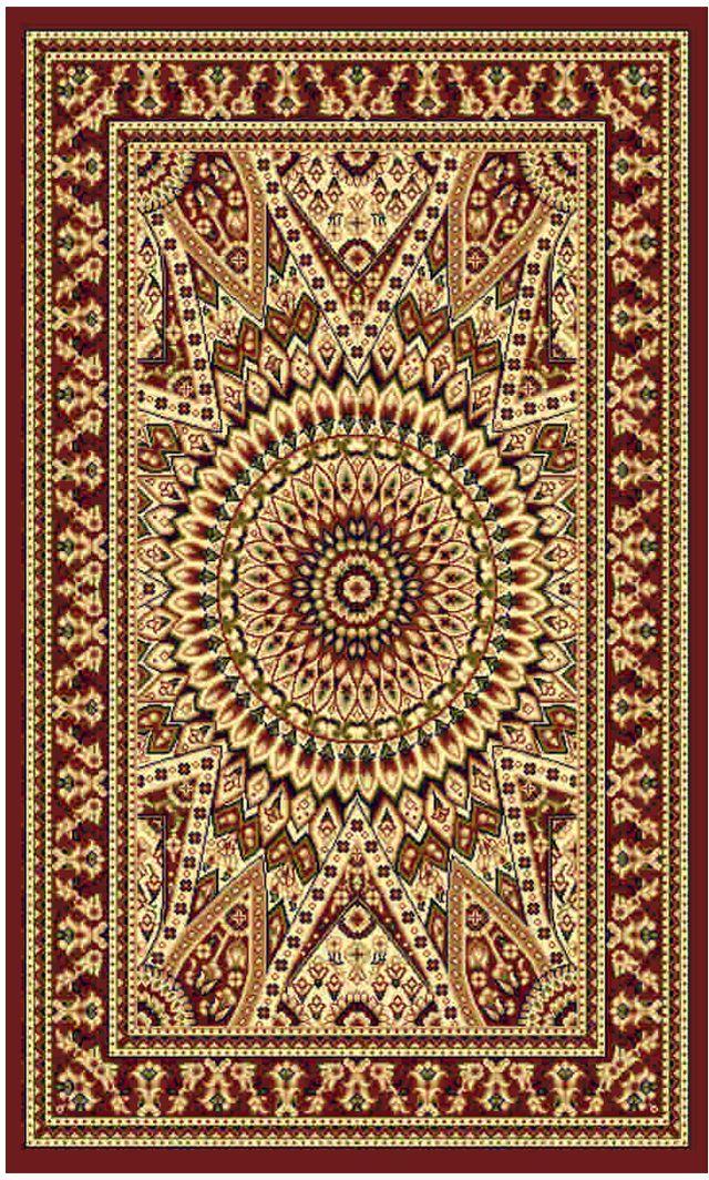 Ковер Kamalak tekstil, прямоугольный, цвет: кремовый, 100 x 150 см. УК-0425УК-0425Ковры-паласы выполнены из полипропилена. Ковры обладают хорошими показателями теплостойкости и шумоизоляции. Являются гиппоалергенными. За счет невысокого ворса ковры легко чистить. Вам придется по душе широкая гамма цветов и возможность гармонично оформить интерьер. Практичный и устойчивый к износу ворс - от постоянного хождения не истирается, не накапливает статическое электричество. Структура волокна в полипропиленовых моделях гладкая, поэтому грязь не может выесться, на ворсе она скапливается с трудом. Полипропилен не впитывает влагу, отталкивает водянистые пятна. Уход: Самый простой способ избавить изделие от грязи – пропылесосить его с обеих сторон (лицевой и изнаночной). Влажная уборка с применением шампуней и моющих средств не противопоказана. Если шерсти и шёлку универсальные чистящие составы не подходят, то для синтетики они придутся в самый раз. Хранить их нужно рулоном, не складывая «салфеткой». При надлежащем уходе синтетический ковёр прослужит долго, не утратив ни яркости узора, ни блеска ворса, ни его упругости.