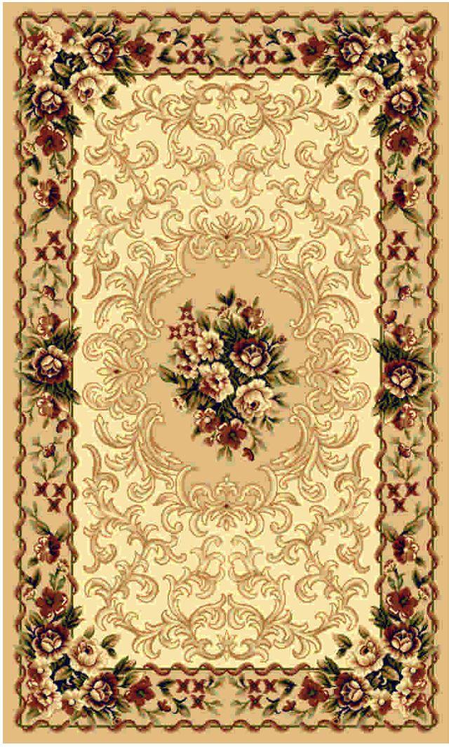 Ковер Kamalak tekstil, прямоугольный, цвет: бежевый, 50 x 100 см. УК-0428УК-0428Ковры-паласы выполнены из полипропилена. Ковры обладают хорошими показателями теплостойкости и шумоизоляции. Являются гиппоалергенными. За счет невысокого ворса ковры легко чистить. Вам придется по душе широкая гамма цветов и возможность гармонично оформить интерьер. Практичный и устойчивый к износу ворс - от постоянного хождения не истирается, не накапливает статическое электричество. Структура волокна в полипропиленовых моделях гладкая, поэтому грязь не может выесться, на ворсе она скапливается с трудом. Полипропилен не впитывает влагу, отталкивает водянистые пятна. Уход: Самый простой способ избавить изделие от грязи – пропылесосить его с обеих сторон (лицевой и изнаночной).Влажная уборка с применением шампуней и моющих средств не противопоказана. Если шерсти и шёлку универсальные чистящие составы не подходят, то для синтетики они придутся в самый раз.Хранить их нужно рулоном, не складывая «салфеткой».При надлежащем уходе синтетический ковёр прослужит долго, не утратив ни яркости узора, ни блеска ворса, ни его упругости.