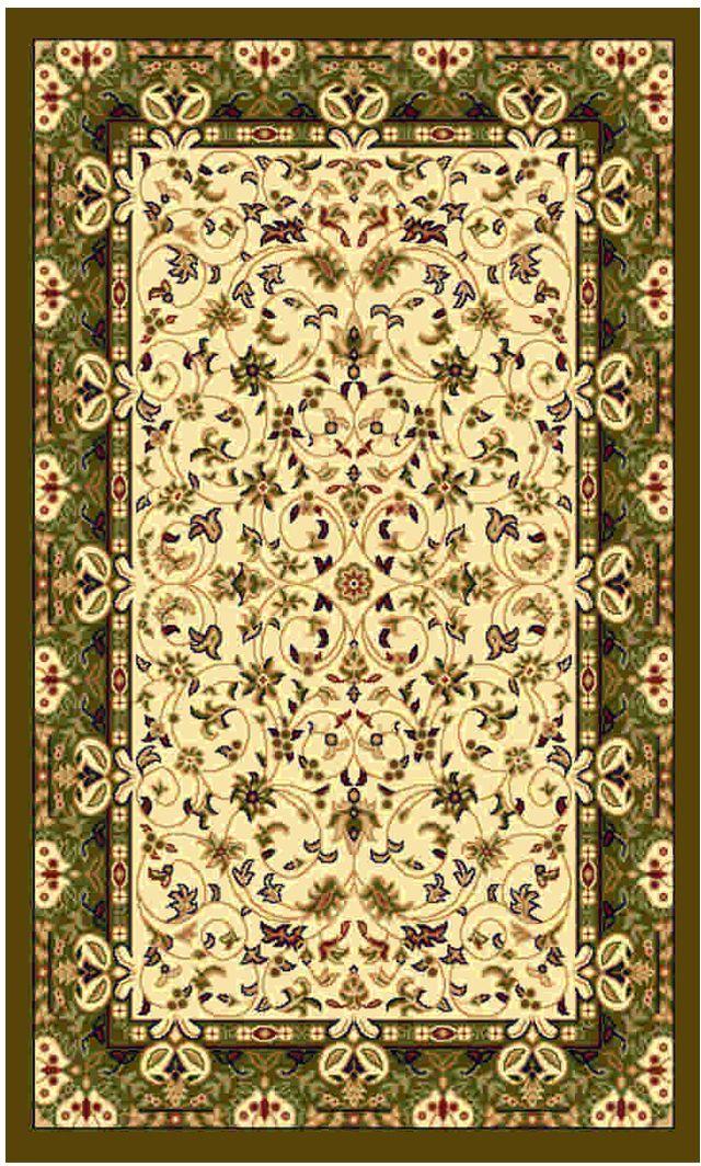 Ковер Kamalak tekstil, прямоугольный, цвет: кремовый, 60 x 110 см. УК-0147УК-0147Ковры-паласы выполнены из полипропилена. Ковры обладают хорошими показателями теплостойкости и шумоизоляции. Являются гиппоалергенными. За счет невысокого ворса ковры легко чистить. Вам придется по душе широкая гамма цветов и возможность гармонично оформить интерьер. Практичный и устойчивый к износу ворс - от постоянного хождения не истирается, не накапливает статическое электричество. Структура волокна в полипропиленовых моделях гладкая, поэтому грязь не может выесться, на ворсе она скапливается с трудом. Полипропилен не впитывает влагу, отталкивает водянистые пятна. Уход: Самый простой способ избавить изделие от грязи – пропылесосить его с обеих сторон (лицевой и изнаночной). Влажная уборка с применением шампуней и моющих средств не противопоказана. Если шерсти и шёлку универсальные чистящие составы не подходят, то для синтетики они придутся в самый раз. Хранить их нужно рулоном, не складывая «салфеткой». При надлежащем уходе синтетический ковёр прослужит долго, не утратив ни яркости узора, ни блеска ворса, ни его упругости.