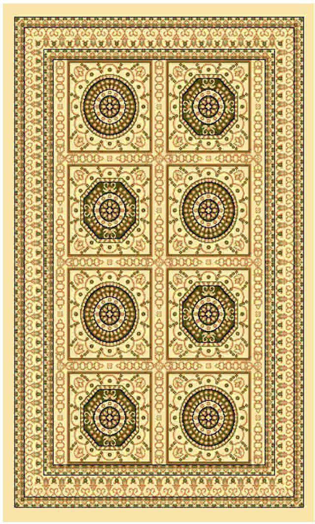 Ковер Kamalak tekstil, прямоугольный, цвет: кремовый, 50 x 100 см. УК-0437УК-0437Ковры-паласы выполнены из полипропилена. Ковры обладают хорошими показателями теплостойкости и шумоизоляции. Являются гиппоалергенными. За счет невысокого ворса ковры легко чистить. Вам придется по душе широкая гамма цветов и возможность гармонично оформить интерьер. Практичный и устойчивый к износу ворс - от постоянного хождения не истирается, не накапливает статическое электричество. Структура волокна в полипропиленовых моделях гладкая, поэтому грязь не может выесться, на ворсе она скапливается с трудом. Полипропилен не впитывает влагу, отталкивает водянистые пятна. Уход: Самый простой способ избавить изделие от грязи – пропылесосить его с обеих сторон (лицевой и изнаночной). Влажная уборка с применением шампуней и моющих средств не противопоказана. Если шерсти и шёлку универсальные чистящие составы не подходят, то для синтетики они придутся в самый раз. Хранить их нужно рулоном, не складывая «салфеткой». При надлежащем уходе синтетический ковёр прослужит долго, не утратив ни яркости узора, ни блеска ворса, ни его упругости.