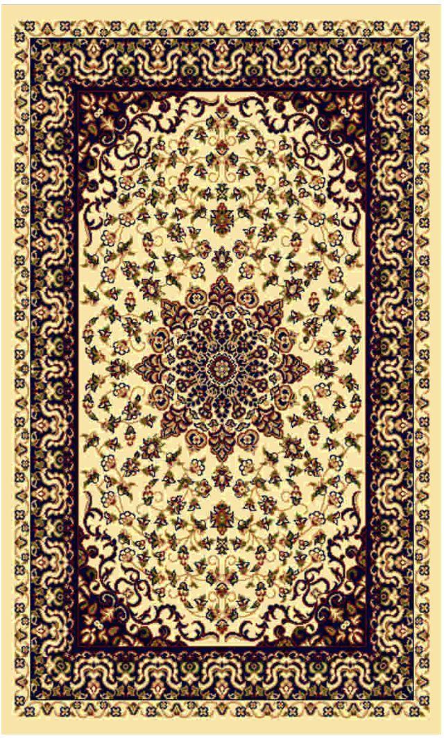 Ковер Kamalak tekstil, прямоугольный, цвет: кремовый, 60 x 110 см. УК-0195УК-0195Ковры-паласы выполнены из полипропилена. Ковры обладают хорошими показателями теплостойкости и шумоизоляции. Являются гиппоалергенными. За счет невысокого ворса ковры легко чистить. Вам придется по душе широкая гамма цветов и возможность гармонично оформить интерьер. Практичный и устойчивый к износу ворс - от постоянного хождения не истирается, не накапливает статическое электричество. Структура волокна в полипропиленовых моделях гладкая, поэтому грязь не может выесться, на ворсе она скапливается с трудом. Полипропилен не впитывает влагу, отталкивает водянистые пятна. Уход: Самый простой способ избавить изделие от грязи – пропылесосить его с обеих сторон (лицевой и изнаночной). Влажная уборка с применением шампуней и моющих средств не противопоказана. Если шерсти и шёлку универсальные чистящие составы не подходят, то для синтетики они придутся в самый раз. Хранить их нужно рулоном, не складывая «салфеткой». При надлежащем уходе синтетический ковёр прослужит долго, не утратив ни яркости узора, ни блеска ворса, ни его упругости.