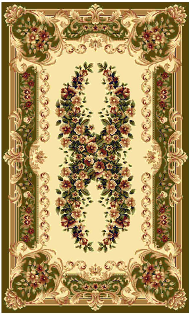 Ковер Kamalak tekstil, прямоугольный, цвет: кремовый, 50 x 100 см. УК-0435 ковер kamalak tekstil прямоугольный цвет кремовый 50 x 100 см ук 0515