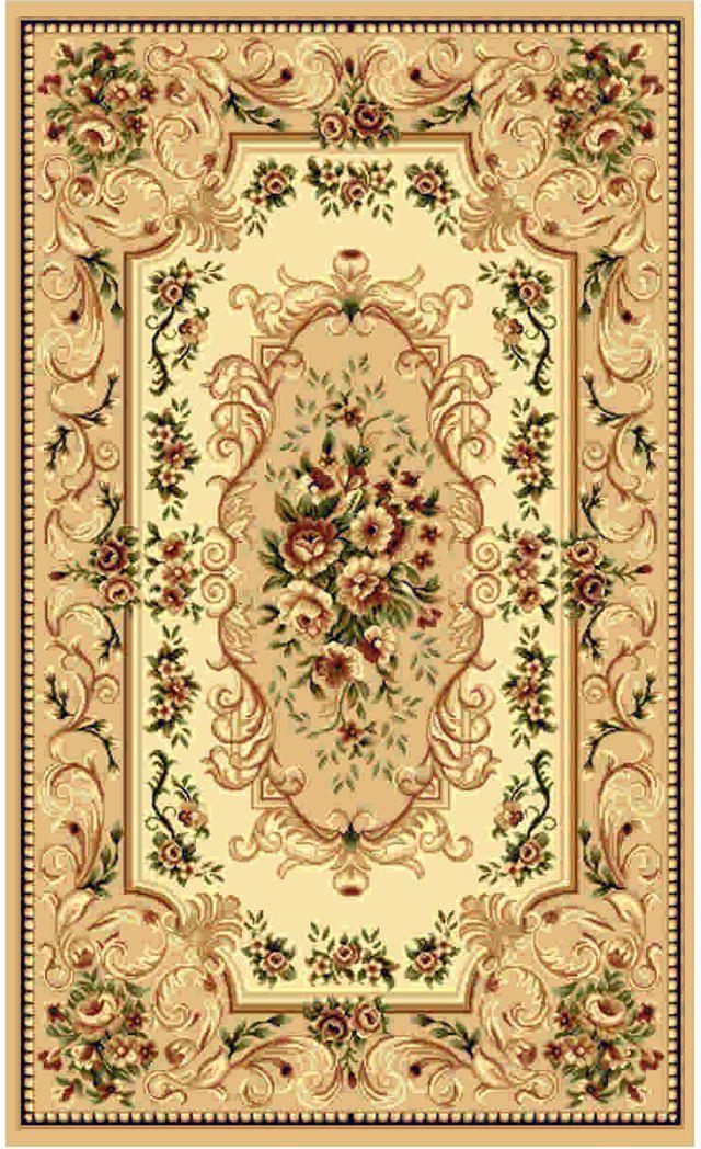 Ковер Kamalak tekstil, прямоугольный, цвет: бежевый, 60 x 110 см. УК-0354УК-0354Ковры-паласы выполнены из полипропилена. Ковры обладают хорошими показателями теплостойкости и шумоизоляции. Являются гиппоалергенными. За счет невысокого ворса ковры легко чистить. Вам придется по душе широкая гамма цветов и возможность гармонично оформить интерьер. Практичный и устойчивый к износу ворс - от постоянного хождения не истирается, не накапливает статическое электричество. Структура волокна в полипропиленовых моделях гладкая, поэтому грязь не может выесться, на ворсе она скапливается с трудом. Полипропилен не впитывает влагу, отталкивает водянистые пятна. Уход: Самый простой способ избавить изделие от грязи – пропылесосить его с обеих сторон (лицевой и изнаночной).Влажная уборка с применением шампуней и моющих средств не противопоказана. Если шерсти и шёлку универсальные чистящие составы не подходят, то для синтетики они придутся в самый раз.Хранить их нужно рулоном, не складывая «салфеткой».При надлежащем уходе синтетический ковёр прослужит долго, не утратив ни яркости узора, ни блеска ворса, ни его упругости.