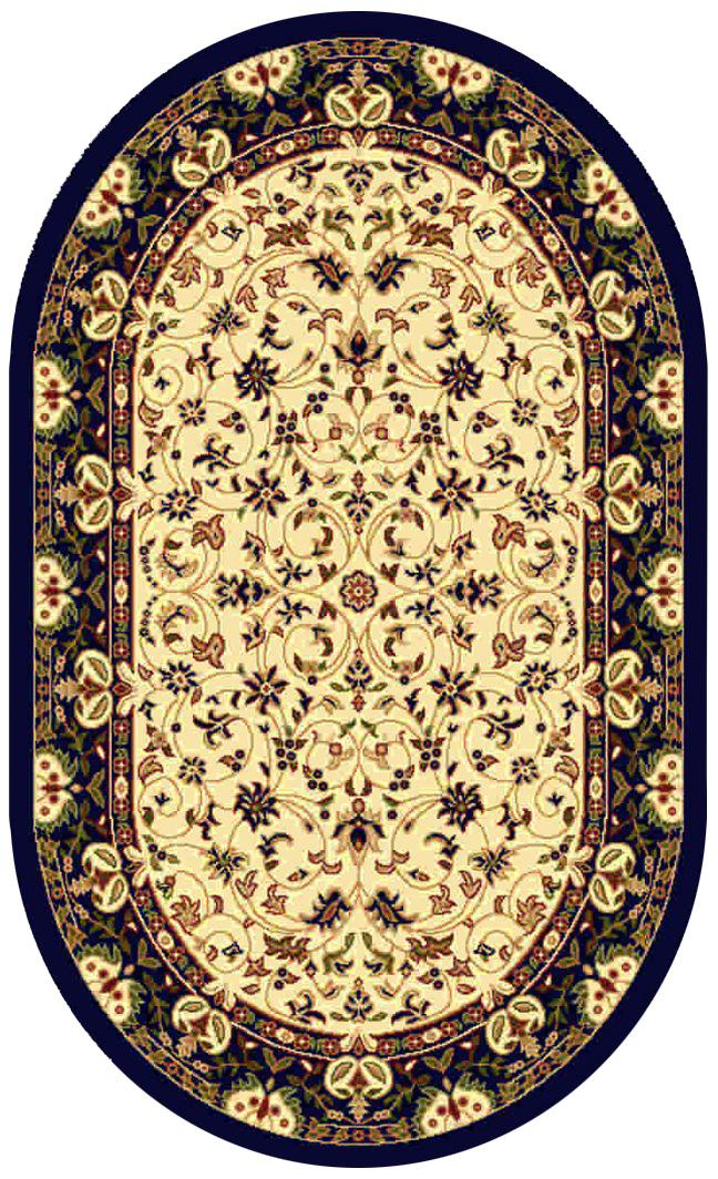 Ковер Kamalak tekstil, овальный, 60 x 110 см. УК-0142УК-0142Ковер Kamalak Tekstil изготовлен из прочного синтетического материала heat-set, улучшенного варианта полипропилена (эта нить получается в результате его дополнительной обработки). Полипропилен износостоек, нетоксичен, не впитывает влагу, не провоцирует аллергию. Структура волокна в полипропиленовых коврах гладкая, поэтому грязь не будет въедаться и скапливаться на ворсе. Практичный и износоустойчивый ворс не истирается и не накапливает статическое электричество. Ковер обладает хорошими показателями теплостойкости и шумоизоляции. Оригинальный рисунок позволит гармонично оформить интерьер комнаты, гостиной или прихожей. За счет невысокого ворса ковер легко чистить. При надлежащем уходе синтетический ковер прослужит долго, не утратив ни яркости узора, ни блеска ворса, ни упругости. Самый простой способ избавить изделие от грязи - пропылесосить его с обеих сторон (лицевой и изнаночной). Влажная уборка с применением шампуней и моющих средств не противопоказана. Хранить рекомендуется в свернутом рулоном виде.