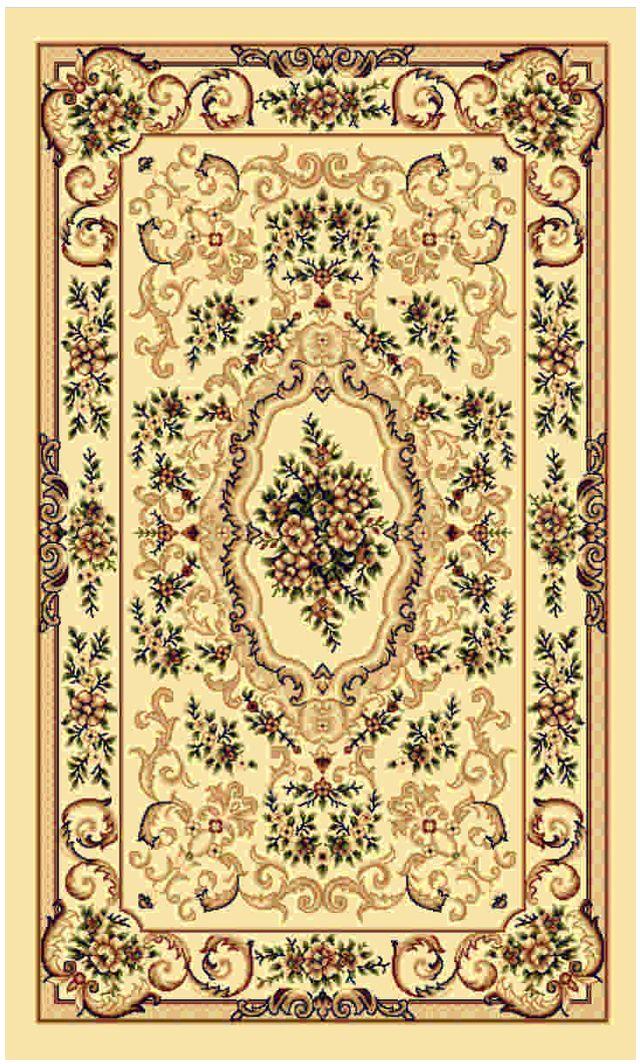 Ковер Kamalak tekstil, прямоугольный, цвет: кремовый, 60 x 110 см. УК-0105УК-0105Ковры-паласы выполнены из полипропилена. Ковры обладают хорошими показателями теплостойкости и шумоизоляции. Являются гиппоалергенными. За счет невысокого ворса ковры легко чистить. Вам придется по душе широкая гамма цветов и возможность гармонично оформить интерьер. Практичный и устойчивый к износу ворс - от постоянного хождения не истирается, не накапливает статическое электричество. Структура волокна в полипропиленовых моделях гладкая, поэтому грязь не может выесться, на ворсе она скапливается с трудом. Полипропилен не впитывает влагу, отталкивает водянистые пятна. Уход: Самый простой способ избавить изделие от грязи – пропылесосить его с обеих сторон (лицевой и изнаночной).Влажная уборка с применением шампуней и моющих средств не противопоказана. Если шерсти и шёлку универсальные чистящие составы не подходят, то для синтетики они придутся в самый раз.Хранить их нужно рулоном, не складывая «салфеткой».При надлежащем уходе синтетический ковёр прослужит долго, не утратив ни яркости узора, ни блеска ворса, ни его упругости.