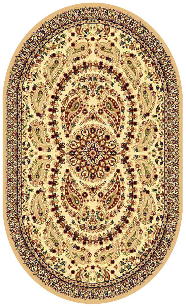 Ковер Kamalak tekstil, овальный, 100 x 150 см. УК-0168УК-0168Ковер Kamalak Tekstil изготовлен из прочного синтетического материала heat-set, улучшенного варианта полипропилена (эта нить получается в результате его дополнительной обработки). Полипропилен износостоек, нетоксичен, не впитывает влагу, не провоцирует аллергию. Структура волокна в полипропиленовых коврах гладкая, поэтому грязь не будет въедаться и скапливаться на ворсе. Практичный и износоустойчивый ворс не истирается и не накапливает статическое электричество. Ковер обладает хорошими показателями теплостойкости и шумоизоляции. Оригинальный рисунок позволит гармонично оформить интерьер комнаты, гостиной или прихожей. За счет невысокого ворса ковер легко чистить. При надлежащем уходе синтетический ковер прослужит долго, не утратив ни яркости узора, ни блеска ворса, ни упругости. Самый простой способ избавить изделие от грязи - пропылесосить его с обеих сторон (лицевой и изнаночной). Влажная уборка с применением шампуней и моющих средств не противопоказана. Хранить рекомендуется в свернутом рулоном виде.