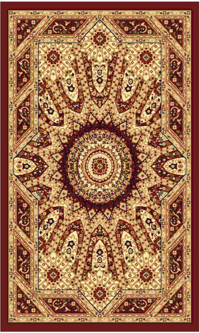 Ковер Kamalak tekstil, прямоугольный, цвет: бордовый , 50 x 100 см. УК-0485УК-0485Ковры-паласы выполнены из полипропилена. Ковры обладают хорошими показателями теплостойкости и шумоизоляции. Являются гиппоалергенными. За счет невысокого ворса ковры легко чистить. Вам придется по душе широкая гамма цветов и возможность гармонично оформить интерьер. Практичный и устойчивый к износу ворс - от постоянного хождения не истирается, не накапливает статическое электричество. Структура волокна в полипропиленовых моделях гладкая, поэтому грязь не может выесться, на ворсе она скапливается с трудом. Полипропилен не впитывает влагу, отталкивает водянистые пятна. Уход: Самый простой способ избавить изделие от грязи – пропылесосить его с обеих сторон (лицевой и изнаночной).Влажная уборка с применением шампуней и моющих средств не противопоказана. Если шерсти и шёлку универсальные чистящие составы не подходят, то для синтетики они придутся в самый раз.Хранить их нужно рулоном, не складывая «салфеткой».При надлежащем уходе синтетический ковёр прослужит долго, не утратив ни яркости узора, ни блеска ворса, ни его упругости.