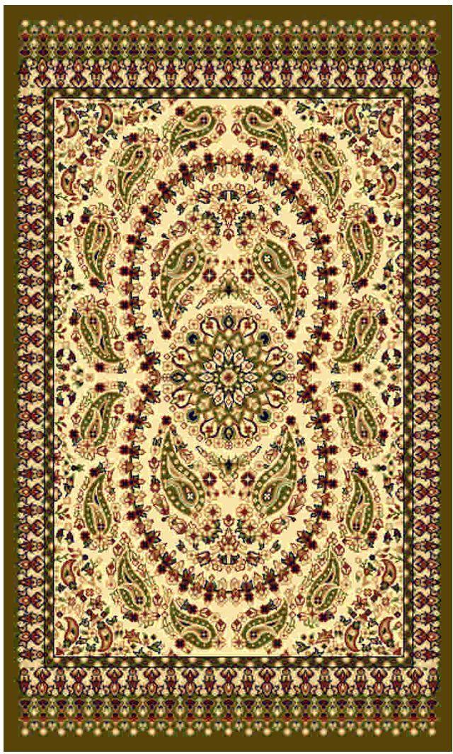 Ковер Kamalak tekstil, прямоугольный, цвет: кремовый, 60 x 110 см. УК-0177УК-0177Ковры-паласы выполнены из полипропилена. Ковры обладают хорошими показателями теплостойкости и шумоизоляции. Являются гиппоалергенными. За счет невысокого ворса ковры легко чистить. Вам придется по душе широкая гамма цветов и возможность гармонично оформить интерьер. Практичный и устойчивый к износу ворс - от постоянного хождения не истирается, не накапливает статическое электричество. Структура волокна в полипропиленовых моделях гладкая, поэтому грязь не может выесться, на ворсе она скапливается с трудом. Полипропилен не впитывает влагу, отталкивает водянистые пятна. Уход: Самый простой способ избавить изделие от грязи – пропылесосить его с обеих сторон (лицевой и изнаночной).Влажная уборка с применением шампуней и моющих средств не противопоказана. Если шерсти и шёлку универсальные чистящие составы не подходят, то для синтетики они придутся в самый раз.Хранить их нужно рулоном, не складывая «салфеткой».При надлежащем уходе синтетический ковёр прослужит долго, не утратив ни яркости узора, ни блеска ворса, ни его упругости.