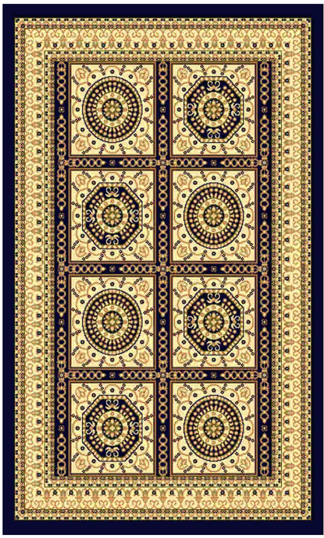Ковер Kamalak tekstil, прямоугольный, цвет: синий, 100 x 150 см. УК-0023УК-0023Ковры-паласы выполнены из полипропилена. Ковры обладают хорошими показателями теплостойкости и шумоизоляции. Являются гиппоалергенными. За счет невысокого ворса ковры легко чистить. Вам придется по душе широкая гамма цветов и возможность гармонично оформить интерьер. Практичный и устойчивый к износу ворс - от постоянного хождения не истирается, не накапливает статическое электричество. Структура волокна в полипропиленовых моделях гладкая, поэтому грязь не может выесться, на ворсе она скапливается с трудом. Полипропилен не впитывает влагу, отталкивает водянистые пятна. Уход: Самый простой способ избавить изделие от грязи – пропылесосить его с обеих сторон (лицевой и изнаночной).Влажная уборка с применением шампуней и моющих средств не противопоказана. Если шерсти и шёлку универсальные чистящие составы не подходят, то для синтетики они придутся в самый раз.Хранить их нужно рулоном, не складывая «салфеткой».При надлежащем уходе синтетический ковёр прослужит долго, не утратив ни яркости узора, ни блеска ворса, ни его упругости.
