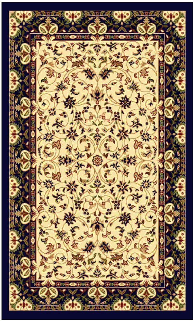 Ковер Kamalak tekstil, прямоугольный, цвет: кремовый, 100 x 150 см. УК-0137УК-0137Ковры-паласы выполнены из полипропилена. Ковры обладают хорошими показателями теплостойкости и шумоизоляции. Являются гиппоалергенными. За счет невысокого ворса ковры легко чистить. Вам придется по душе широкая гамма цветов и возможность гармонично оформить интерьер. Практичный и устойчивый к износу ворс - от постоянного хождения не истирается, не накапливает статическое электричество. Структура волокна в полипропиленовых моделях гладкая, поэтому грязь не может выесться, на ворсе она скапливается с трудом. Полипропилен не впитывает влагу, отталкивает водянистые пятна. Уход: Самый простой способ избавить изделие от грязи – пропылесосить его с обеих сторон (лицевой и изнаночной). Влажная уборка с применением шампуней и моющих средств не противопоказана. Если шерсти и шёлку универсальные чистящие составы не подходят, то для синтетики они придутся в самый раз. Хранить их нужно рулоном, не складывая «салфеткой». При надлежащем уходе синтетический ковёр прослужит долго, не утратив ни яркости узора, ни блеска ворса, ни его упругости.