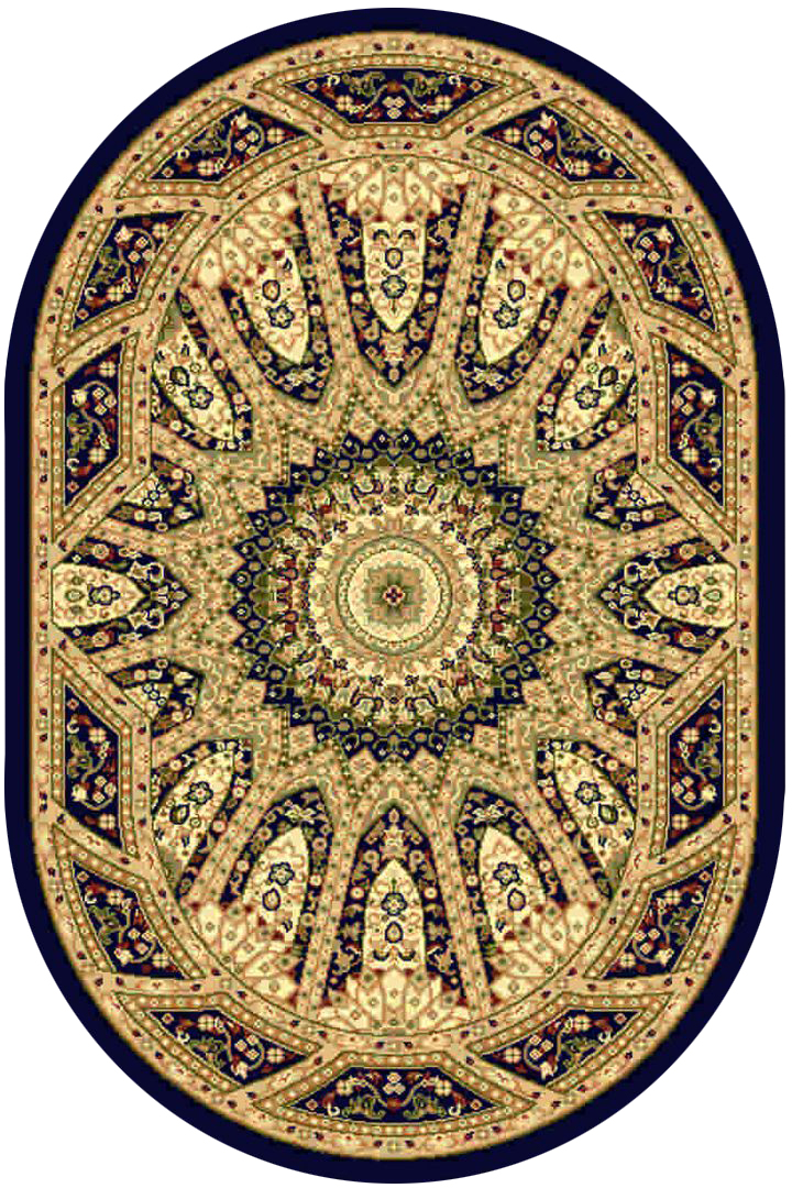 Ковер Kamalak tekstil, овальный, 100 x 150 см. УК-0225УК-0225Ковер Kamalak Tekstil изготовлен из прочного синтетического материала heat-set, улучшенного варианта полипропилена (эта нить получается в результате его дополнительной обработки). Полипропилен износостоек, нетоксичен, не впитывает влагу, не провоцирует аллергию. Структура волокна в полипропиленовых коврах гладкая, поэтому грязь не будет въедаться и скапливаться на ворсе. Практичный и износоустойчивый ворс не истирается и не накапливает статическое электричество. Ковер обладает хорошими показателями теплостойкости и шумоизоляции. Оригинальный рисунок позволит гармонично оформить интерьер комнаты, гостиной или прихожей. За счет невысокого ворса ковер легко чистить. При надлежащем уходе синтетический ковер прослужит долго, не утратив ни яркости узора, ни блеска ворса, ни упругости. Самый простой способ избавить изделие от грязи - пропылесосить его с обеих сторон (лицевой и изнаночной). Влажная уборка с применением шампуней и моющих средств не противопоказана. Хранить рекомендуется в свернутом рулоном виде.
