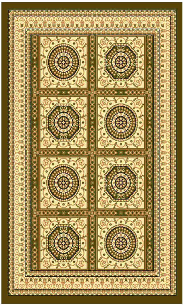 Ковер Kamalak tekstil, прямоугольный, цвет: зеленый, 60 x 110 см. УК-0031УК-0031Ковры-паласы выполнены из полипропилена. Ковры обладают хорошими показателями теплостойкости и шумоизоляции. Являются гиппоалергенными. За счет невысокого ворса ковры легко чистить. Вам придется по душе широкая гамма цветов и возможность гармонично оформить интерьер. Практичный и устойчивый к износу ворс - от постоянного хождения не истирается, не накапливает статическое электричество. Структура волокна в полипропиленовых моделях гладкая, поэтому грязь не может выесться, на ворсе она скапливается с трудом. Полипропилен не впитывает влагу, отталкивает водянистые пятна. Уход: Самый простой способ избавить изделие от грязи – пропылесосить его с обеих сторон (лицевой и изнаночной).Влажная уборка с применением шампуней и моющих средств не противопоказана. Если шерсти и шёлку универсальные чистящие составы не подходят, то для синтетики они придутся в самый раз.Хранить их нужно рулоном, не складывая «салфеткой».При надлежащем уходе синтетический ковёр прослужит долго, не утратив ни яркости узора, ни блеска ворса, ни его упругости.