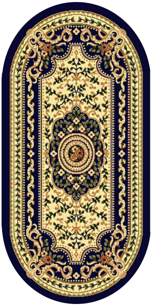 Ковер Kamalak tekstil, овальный, 80 x 150 см. УК-0403 ковер kamalak tekstil ук 0494