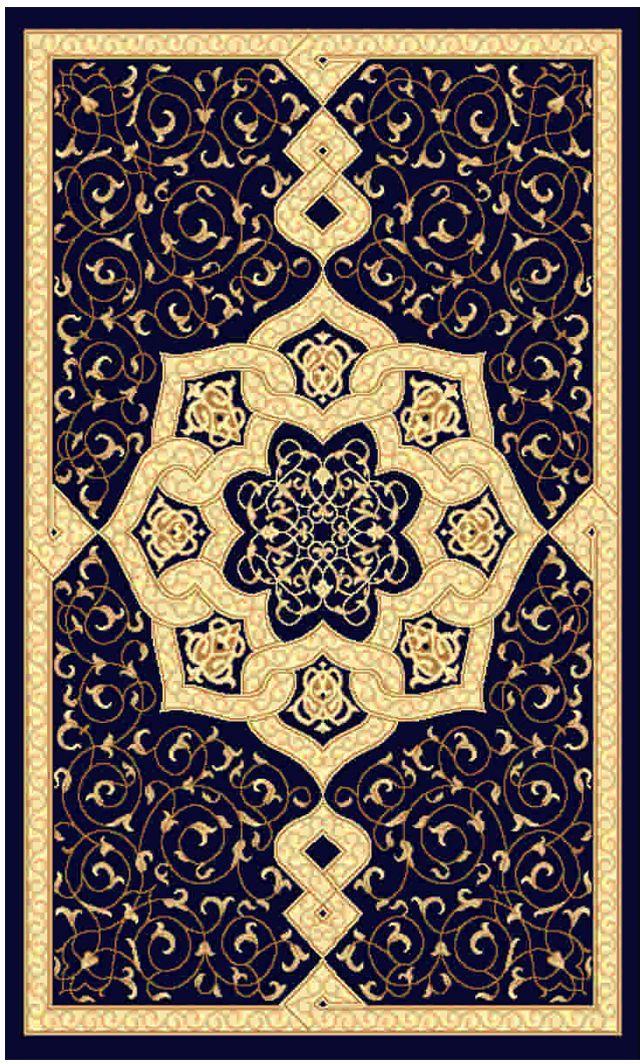 Ковер Kamalak tekstil, прямоугольный, цвет: синий, 60 x 110 см. УК-0085УК-0085Ковры-паласы выполнены из полипропилена. Ковры обладают хорошими показателями теплостойкости и шумоизоляции. Являются гиппоалергенными. За счет невысокого ворса ковры легко чистить. Вам придется по душе широкая гамма цветов и возможность гармонично оформить интерьер. Практичный и устойчивый к износу ворс - от постоянного хождения не истирается, не накапливает статическое электричество. Структура волокна в полипропиленовых моделях гладкая, поэтому грязь не может выесться, на ворсе она скапливается с трудом. Полипропилен не впитывает влагу, отталкивает водянистые пятна. Уход: Самый простой способ избавить изделие от грязи – пропылесосить его с обеих сторон (лицевой и изнаночной).Влажная уборка с применением шампуней и моющих средств не противопоказана. Если шерсти и шёлку универсальные чистящие составы не подходят, то для синтетики они придутся в самый раз.Хранить их нужно рулоном, не складывая «салфеткой».При надлежащем уходе синтетический ковёр прослужит долго, не утратив ни яркости узора, ни блеска ворса, ни его упругости.