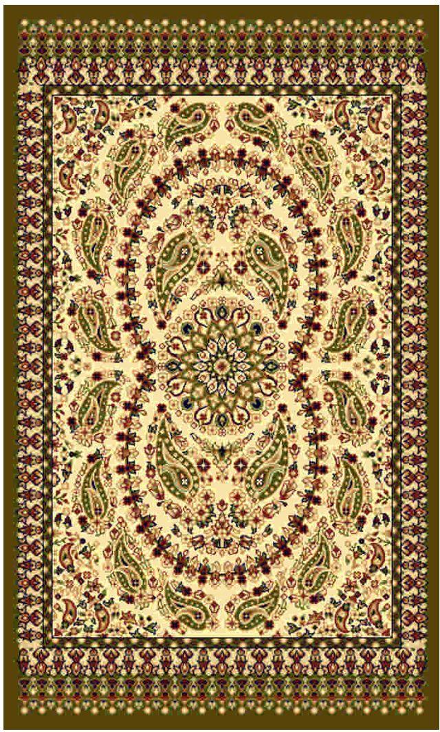 Ковер Kamalak tekstil, прямоугольный, цвет: кремовый, 80 x 150 см. УК-0175УК-0175Ковры-паласы выполнены из полипропилена. Ковры обладают хорошими показателями теплостойкости и шумоизоляции. Являются гиппоалергенными. За счет невысокого ворса ковры легко чистить. Вам придется по душе широкая гамма цветов и возможность гармонично оформить интерьер. Практичный и устойчивый к износу ворс - от постоянного хождения не истирается, не накапливает статическое электричество. Структура волокна в полипропиленовых моделях гладкая, поэтому грязь не может выесться, на ворсе она скапливается с трудом. Полипропилен не впитывает влагу, отталкивает водянистые пятна. Уход: Самый простой способ избавить изделие от грязи – пропылесосить его с обеих сторон (лицевой и изнаночной). Влажная уборка с применением шампуней и моющих средств не противопоказана. Если шерсти и шёлку универсальные чистящие составы не подходят, то для синтетики они придутся в самый раз. Хранить их нужно рулоном, не складывая «салфеткой». При надлежащем уходе синтетический ковёр прослужит долго, не утратив ни яркости узора, ни блеска ворса, ни его упругости.