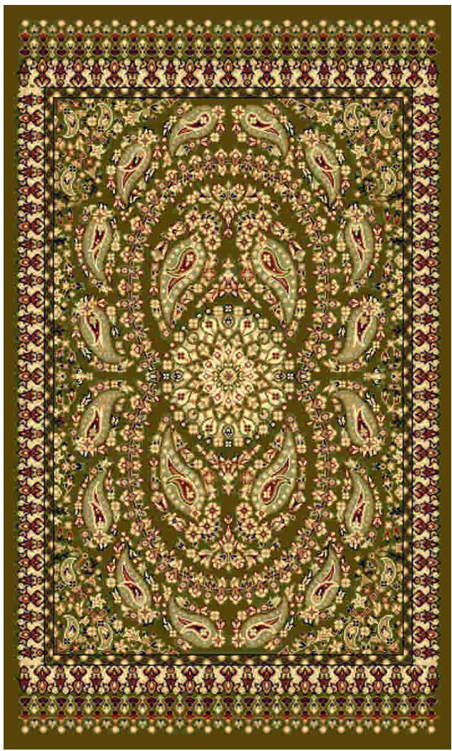 Ковер Kamalak tekstil, прямоугольный, цвет: зеленый, 50 x 100 см. УК-0472УК-0472Ковры-паласы выполнены из полипропилена. Ковры обладают хорошими показателями теплостойкости и шумоизоляции. Являются гиппоалергенными. За счет невысокого ворса ковры легко чистить. Вам придется по душе широкая гамма цветов и возможность гармонично оформить интерьер. Практичный и устойчивый к износу ворс - от постоянного хождения не истирается, не накапливает статическое электричество. Структура волокна в полипропиленовых моделях гладкая, поэтому грязь не может выесться, на ворсе она скапливается с трудом. Полипропилен не впитывает влагу, отталкивает водянистые пятна. Уход: Самый простой способ избавить изделие от грязи – пропылесосить его с обеих сторон (лицевой и изнаночной).Влажная уборка с применением шампуней и моющих средств не противопоказана. Если шерсти и шёлку универсальные чистящие составы не подходят, то для синтетики они придутся в самый раз.Хранить их нужно рулоном, не складывая «салфеткой».При надлежащем уходе синтетический ковёр прослужит долго, не утратив ни яркости узора, ни блеска ворса, ни его упругости.