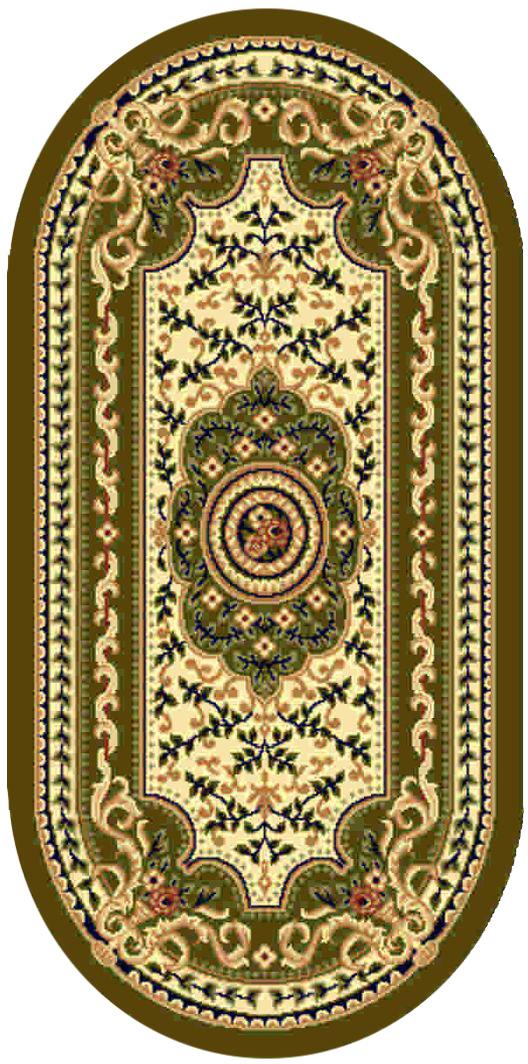 Ковер Kamalak tekstil, овальный, цвет: кремовый, 100 x 150 см. УК-0407УК-0407Ковры-паласы выполнены из полипропилена. Ковры обладают хорошими показателями теплостойкости и шумоизоляции. Являются гиппоалергенными. За счет невысокого ворса ковры легко чистить. Вам придется по душе широкая гамма цветов и возможность гармонично оформить интерьер. Практичный и устойчивый к износу ворс - от постоянного хождения не истирается, не накапливает статическое электричество. Структура волокна в полипропиленовых моделях гладкая, поэтому грязь не может выесться, на ворсе она скапливается с трудом. Полипропилен не впитывает влагу, отталкивает водянистые пятна. Уход: Самый простой способ избавить изделие от грязи – пропылесосить его с обеих сторон (лицевой и изнаночной). Влажная уборка с применением шампуней и моющих средств не противопоказана. Если шерсти и шёлку универсальные чистящие составы не подходят, то для синтетики они придутся в самый раз. Хранить их нужно рулоном, не складывая «салфеткой». При надлежащем уходе синтетический ковёр прослужит долго, не утратив ни яркости узора, ни блеска ворса, ни его упругости.