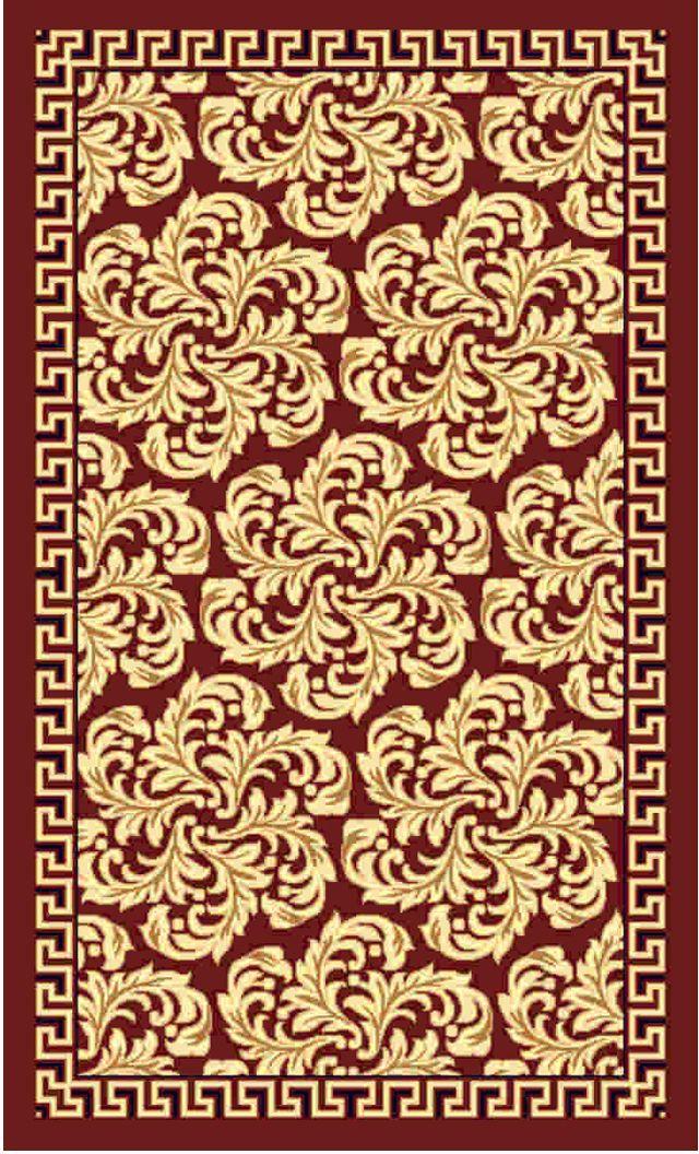 Ковер Kamalak tekstil, прямоугольный, цвет: бордовый , 50 x 100 см. УК-0496УК-0496Ковры-паласы выполнены из полипропилена. Ковры обладают хорошими показателями теплостойкости и шумоизоляции. Являются гиппоалергенными. За счет невысокого ворса ковры легко чистить. Вам придется по душе широкая гамма цветов и возможность гармонично оформить интерьер. Практичный и устойчивый к износу ворс - от постоянного хождения не истирается, не накапливает статическое электричество. Структура волокна в полипропиленовых моделях гладкая, поэтому грязь не может выесться, на ворсе она скапливается с трудом. Полипропилен не впитывает влагу, отталкивает водянистые пятна. Уход: Самый простой способ избавить изделие от грязи – пропылесосить его с обеих сторон (лицевой и изнаночной).Влажная уборка с применением шампуней и моющих средств не противопоказана. Если шерсти и шёлку универсальные чистящие составы не подходят, то для синтетики они придутся в самый раз.Хранить их нужно рулоном, не складывая «салфеткой».При надлежащем уходе синтетический ковёр прослужит долго, не утратив ни яркости узора, ни блеска ворса, ни его упругости.