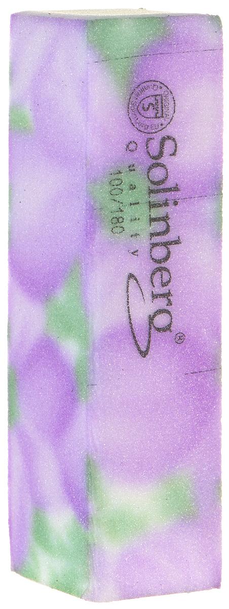 Брусок полировочный Solinberg 439, 2 в 1 (100/180), цвет: сиреневый, длина 9 см231-439Брусок полировочный Solinberg 439, 2 в 1 (100/180), длина 9см.Как ухаживать за ногтями: советы эксперта. Статья OZON Гид